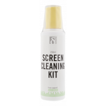 Screen cleaning kit DELTACO 250ml, non-alcoholic,  microfiber cloth, biodegradable / CK1008