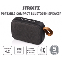 Bluetooth Speaker, Bluetooth 4.2 , Playtime 2 hours, 10m Range STREETZ / CM688
