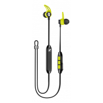 Bluetooth in-ear headset sweat and splash resistant, Bluetooth 4.2, aptX Sennheise black&green 508256 / CXSPORT