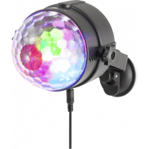 NGS Spectra Rave Party light with three LEDs, 18W, RGB, music mode, rotation, black / DEL2024973