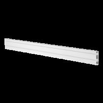 DELTACO OFFICE Track panel in aluminum for desk, 110 cm, white / DELO-0151