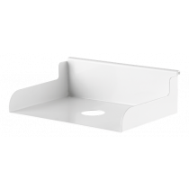 DELTACO OFFICE Shelf for track panel DELO-0155, white