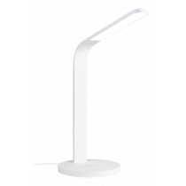 Desk lamp DELTACO OFFICE LED with wireless fast charging, timer function, 400lm white / DELO-0401