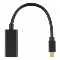 Adapter DELTACO DP to HDMI, 3840x2160 at 60Hz, 0.2m, black / DP-HDMI45