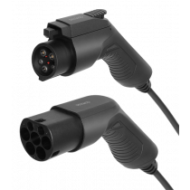 DELTACO e-Charge charging cable, type 2 to type 1, 1 phase, 16A, 3.6KW, 3m, black EV-1103