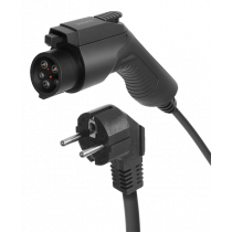 DELTACO e-Charge charging cable, Schuko for type 1, 1 phase, 3.6KW, 6m, black EV-1125