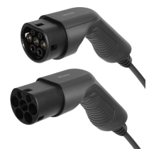 DELTACO e-Charge charging cable, type 2 to type 2, 1 phase, 16A, 3.6KW, 3m, black V-1203