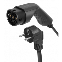 DELTACO e-Charge charging cable, Schuko for type 2, 1 phase, 3.6KW, 6m, black EV-1225