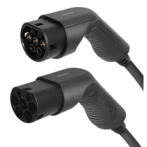 DELTACO e-Charge charging cable, type 2 to type 2, 3 phase, 32A, 22KW, 3m, black EV-3203