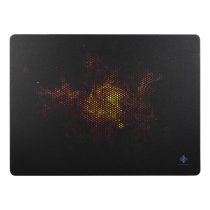 DELTACO GAMING mousepad, black - white / GAM-007