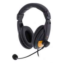 DELTACO GAMING Stereo Gaming Headset, 20Hz-20kHz, 32Ω, black / orange / GAM-012