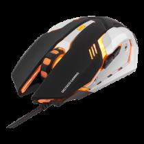 DELTACO GAMING optical USB gaming mouse, 1000 - 3200 DPI, orange light, 1.5m USB cable, black / GAM-020