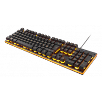 DELTACO GAMING keyboard, 105 keys, diaphragm switch, orange LED lighting, USB, black / orange / GAM-021UK