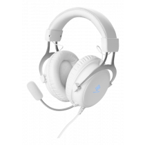 Headset DELTACO GAMING 57mm element, aluminum frame, LED, white / GAM-030-W