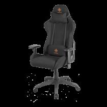 DELTACO GAMING Gaming chair in nylon, neck cushion, back cushion, black / orange GAM-051-B