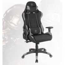 Gaming chair in nylon, neck pillow, back cushion, black/gray DELTACO GAMING / GAM-051