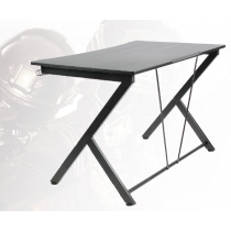 Gaming table, metal legs, PVC treated surface, built-in hanger for headset, black DELTACO GAMING / GAM-055