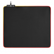 RGB Mousepad, 45x40cm, 3xRGB modes, 5xStatical modes, black DELTACO GAMING / GAM-066