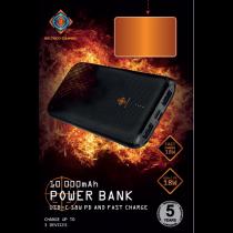 Power bank DELTACO GAMING G53PD + QC PB 10000mAh, black / GAM-068