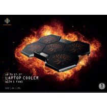 Laptop cooler DELTACO GAMING 5 high speeds fan / GAM-072