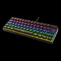 Keyboard DELTACO GAMING mini mechanical, UK, RGB, black / GAM-075-UK
