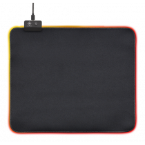 Mouse pad DELTACO GAMING 6xRGB Modes, 7xStatic Modes, 320x270x4mm, black / GAM-077