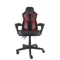 Gaming chair DELTACO GAMING with RGB lighting, PU leather, black / GAM-086