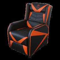 Gaming Armchair DELTACO GAMING PU leather,  black/orange GAM-087