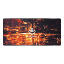 DELTACO GAMING DMP 420 Limited Edition X-Large Mousepad, polyester, sewn edges, 900x400x4mm, black with abstract pattern / GAM-098