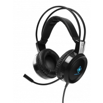 Headset DELTACO GAMING LED, works with Xbox and Playstation, black/ GAM-105