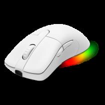 Mouse DELTACO GAMING WHITE LINE wireless, 16.000 DPI, RGB, USB-C/USB-A, white / GAM-107-W