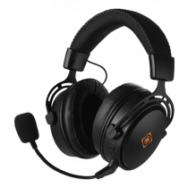 Headset DELTACO GAMING wireless, 17 hours playing time, 2.4 GHz USB receiver, built-in 1100 mAh battery, black / GAM-109