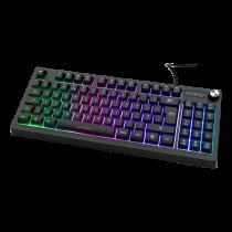 Keyboard DELTACO GAMING TKL membrane, UK, RGB, black / GAM-110-UK