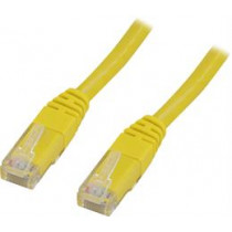Cable DELTACO U / UTP Cat5e 0.5 m, yellow / GL05-TP