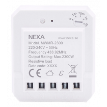 NEXA MWMR-2300 dose relay, compatible with Nexa Bridge, timer setting, white 14567 / GT-296