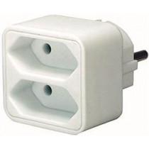 Socket, 2xIEC 60906-1 socket, 1x CEE 7/7, white Brennenstuhl / GT-469