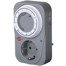 Timer for grounded outlet Brennenstuhl 2 h, 230V, gray/white / GT-523