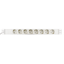 DELTACO Branch socket with 8xCEE 7/4 socket, 1xCEE 7/7, cap guard, White GT-8629W