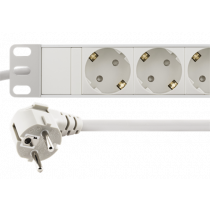 DELTACO power outlet, 9xCEE 7/4, 1xCEE 7/7, pet-protected, 3m, white GT-8634W