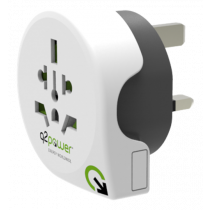 Adapter Q2Power 10A, white / GT-901