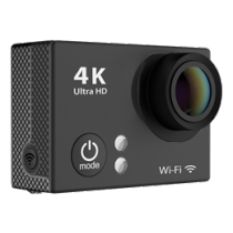 Action camera DELTACO, 4K, black / H2