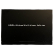 HDMI Multiviewer switch, 4x1 HDMI, Full HD, three display modes, black / HDMI-281