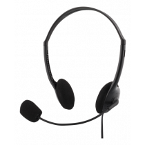Headphones DELTACO with microphone, black / HL-21