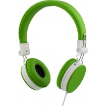 Headphones STREETZ foldable, with microphone, green / HL-223