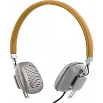 Headphones STREETZ, with microphone, brown/silver/ HL-261