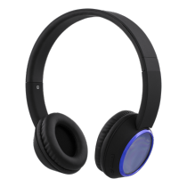 Headphones STREETZ, bluetooth, black-blue / HL-346