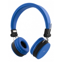 Headphones DELTACO with microphone, blue / HL-422