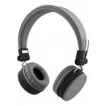 Headphones DELTACO with microphone, gray / HL-424