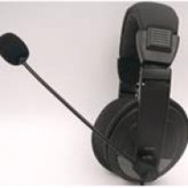 Headphone DELTACO with microphone, black / HL-50