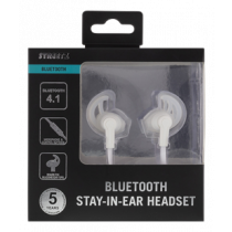Bluetooth stay-in-ear headset, Bluetooth 4.1, 10m STREETZ white / HL-569